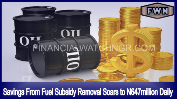 OIL SUBSIDY REMOVAL SAVINGS