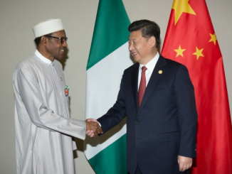 President Buhari Arrives In China
