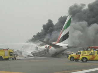 Emirates passenger jet explodes
