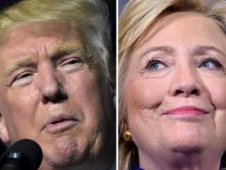 Republican presidential nominee Donald Trump and Democratic presidential nominee Hillary Clinton / AFP PHOTO / DESK