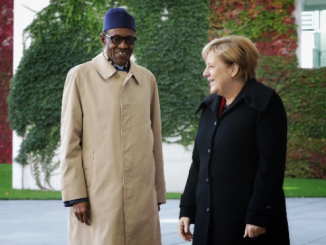 President Buhari meets with German Chancellor Angela Merkel at the Chancellery in Berlin Germany on Friday, October 14, 2016