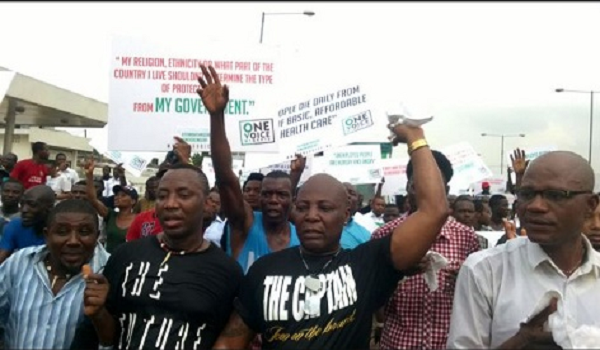 Anti-Government Protest: Hundreds Of People Gather In Lagos, Abuja
