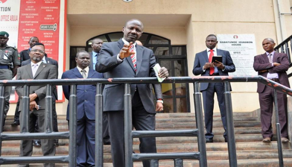 EFCC @ 14: Magu Addresses staff of commission [PHOTOS]