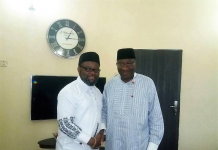 Comrade Sunny Ofehe with former president Goodluck Jonathan