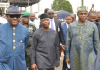 Wike, Osinbajo & Amaechi in Rivers during commissioning of fertilizer plant