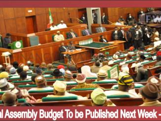 National Assembly Budget To be Published Next Week Saraki