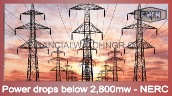 Power drops below 2,800mw - NERC