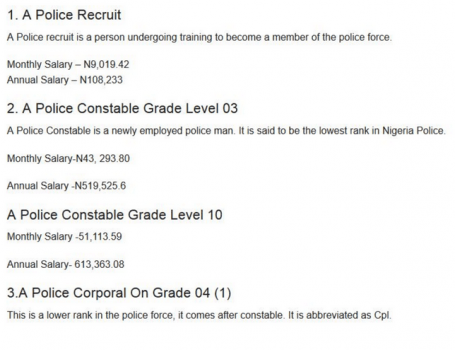 How Much Are Nigerian Police Paid? Find Out Here ...