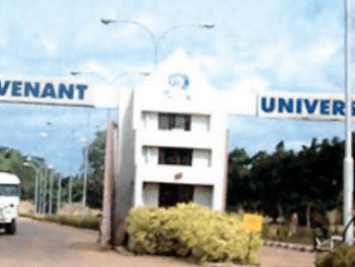 Covenant University Post-UTME Screening form 2018 Out