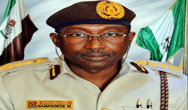 Comptroller General of Immigration, Mr. Mohammed Babadede