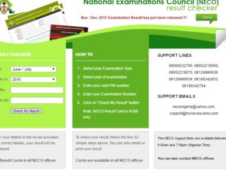 How to check NECO 2016 Results via mynecoexams