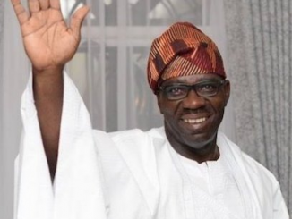Obaseki thanks Edo people for his victory. Twiter photo.