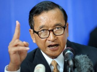 Sam Rainsy Cmbodian opposition leader jailed