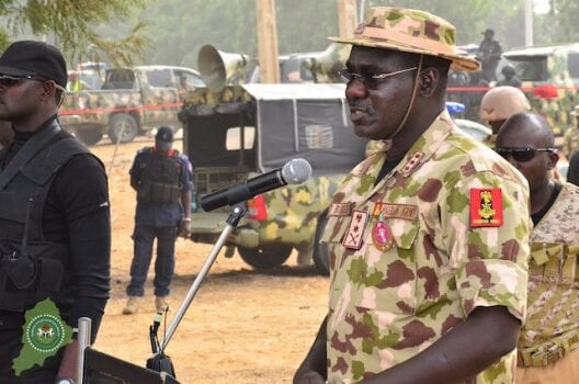 Chief of Army Staff Lt. Gen. Tukur Buratai inaugurates operational base in Kaduna South
