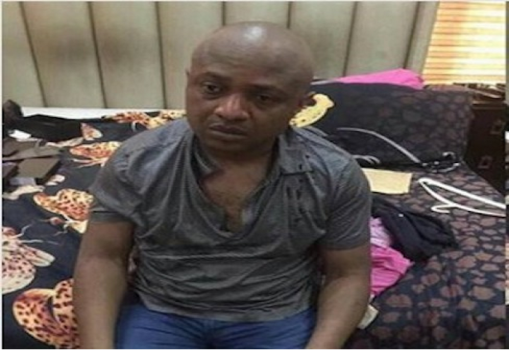 Arrested kidnapper Evans