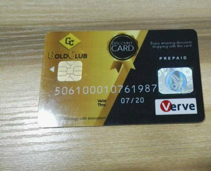 Gold Club discount card