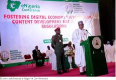 Buhari opens e Nigeria confab News Agency of Nigeria NAN 11 7 2017 1 20 22 PM