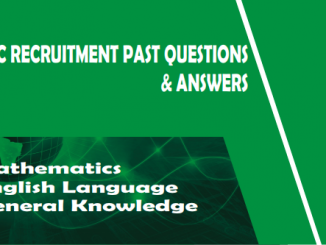 NNPC Recruitment Past Questions And Answers PDF Download