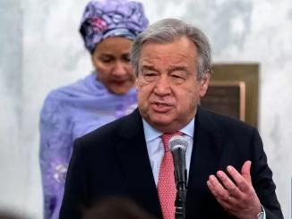 UN Scribe Guterres and deputy secretary-general Amina Mohammed