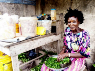 Joy Efughi who sells foodstuffs in Lagos