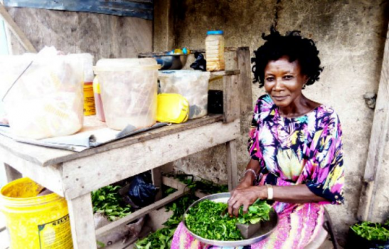 Joy Efughi who sells foodstuffs in Lagos
