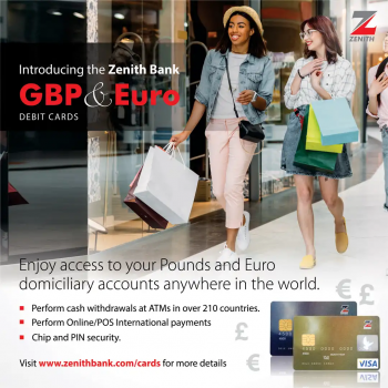 Zenith Bank GBP And Euro Debit Cards