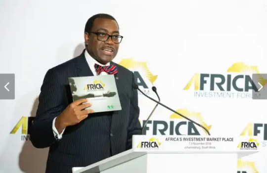 AfDB President Akinwumi Adesina at the launch of Africa Investment Forum in Abidjan