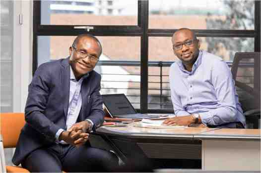 Cellulant picture caption Cellulant Co founders – Bolaji Akinboro L and Ken Njoroge R