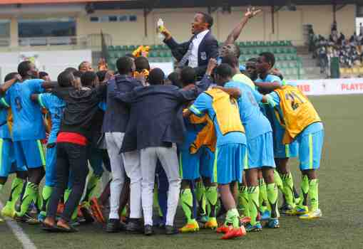 Day match students of Kings College Lagos celebrate