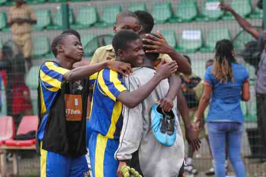 Day match students of Igbobi college celebrate penalty victory