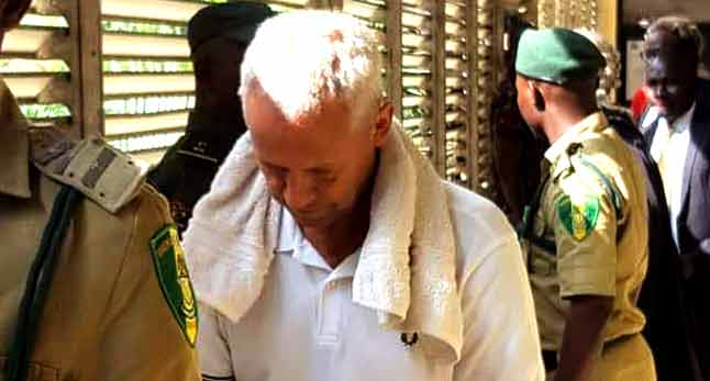 Peter Nielsen during his arraignment on charges of allegedly killing his wife and daughter at the Lagos High Court, Igbosere, Lagos on June 13, 2018.