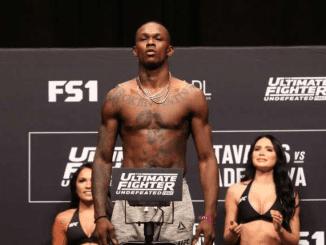 Israel Adesanya a Nigerian New Zealander mixed martial artist
