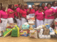 Members of the NGO when they donated food items
