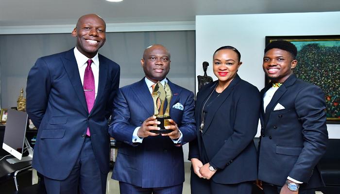 Access Bank CEO Hosts AMVCA Winner Michael Akinrogunde