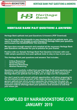 Heritage Bank past questions