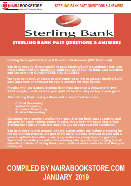 Sterling Bank aptitude test past Questions & Answers (PDF