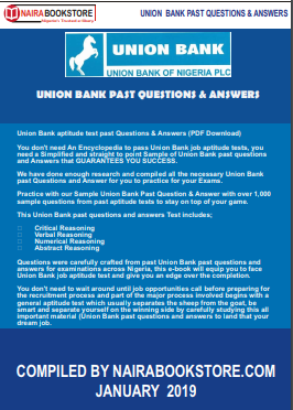 union bank past questions