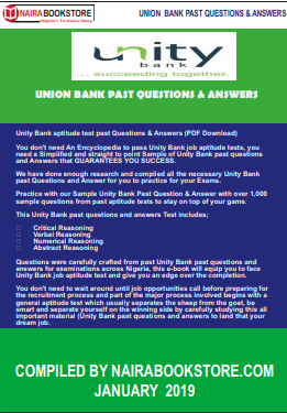 Unity Bank aptitude test past Questions & Answers (PDF Download
