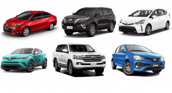 Toyota Nigeria Cars Price List