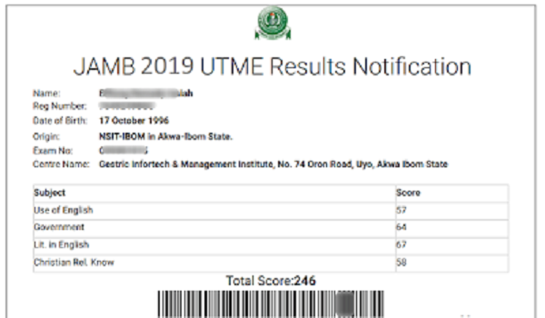 Utme 2019: Check JAMB Results Using JAMB Registration Number