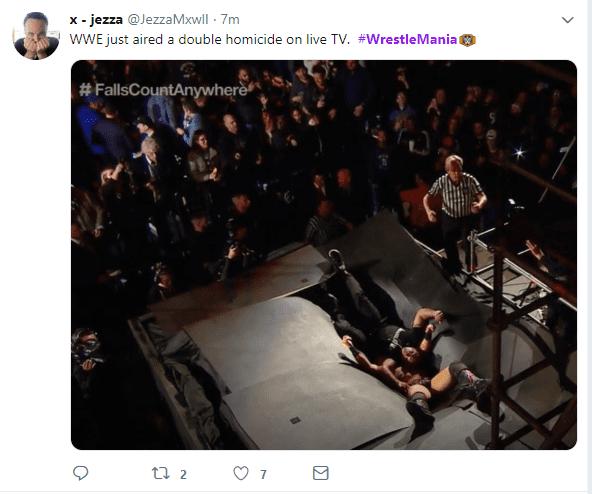 WrestleMania hashtag on Twitter AM
