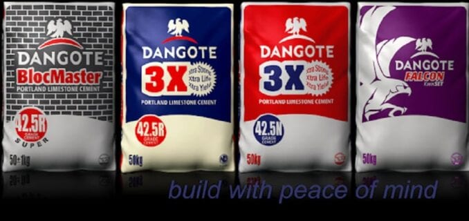 Current price of Dangote Cement Today