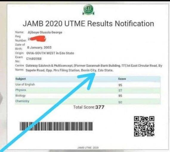 Jamb Utme results
