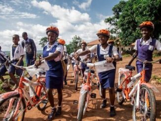 School children in Enugu State with their GTBank CARES bicycle