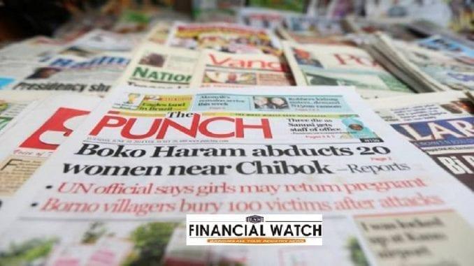 Trending headlines in Nigerian Newspapers Today