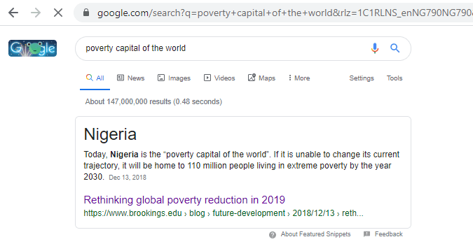 Poverty capital of the world