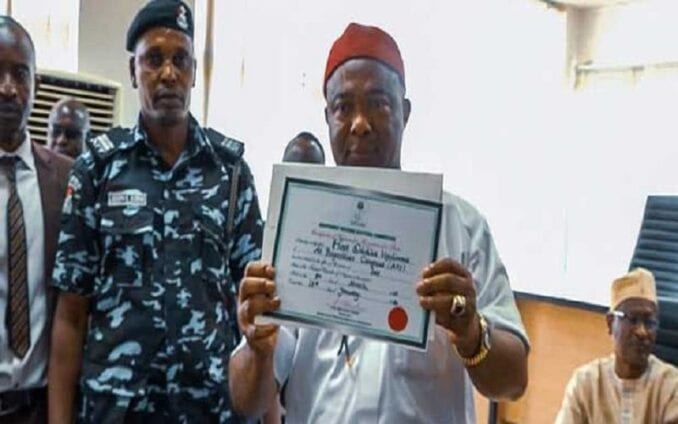 Hope Uzodinma Receives Certificate Of Return As Imo Governor