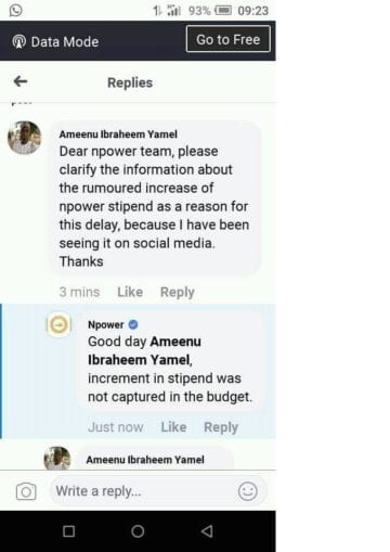 npower stipend increment