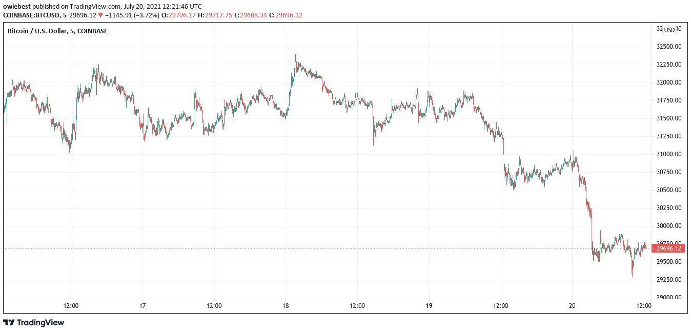 Bitcoin price falls below 30000 Bear Market or Bullish Setup 1