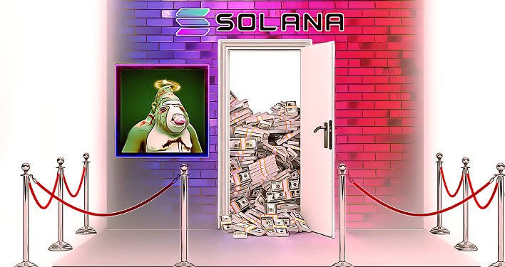 First Million Dollar NFT Sale for Solana and Its for a Degenerate Ape